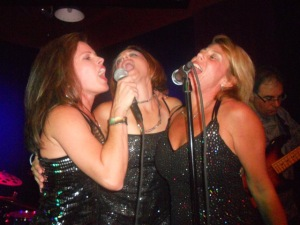 My last gig with a band called Girls on Top. The singer in the middle, Kristin, is now one of my teachers at Performance High!